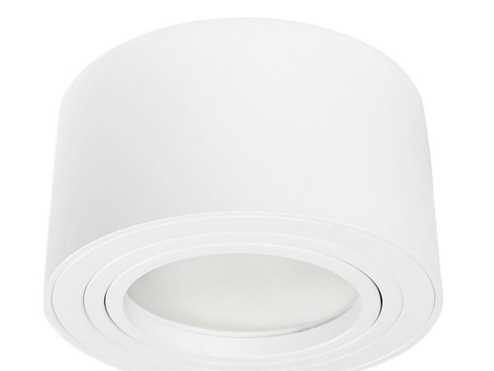 Nowoczesna oprawa sufitowa GX53 okrągła ruchoma biała biały mat aluminiowa