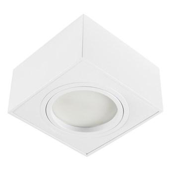 Nowoczesna oprawa sufitowa GX53 kwadrat ruchoma biała biały mat aluminiowa