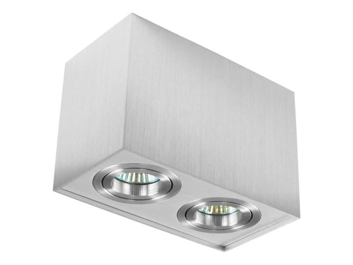 Nowoczesna podwójna sufitowa oprawa natynkowa prostokąt MR16 aluminium aluminiowa GU10 Oprawa stropowa Prostokątne Oprawa led Oprawa halogenowa Kategoria Oprawy oświetleniowe