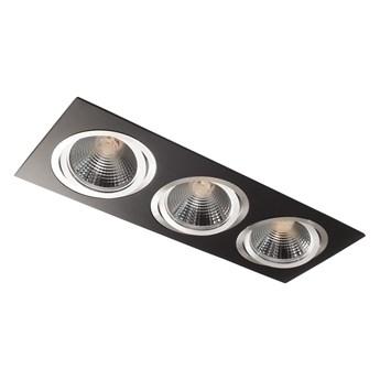 Potrójna ruchoma sufitowa podtynkowa oprawa ES111 AR111 QR111 czarna/aluminium