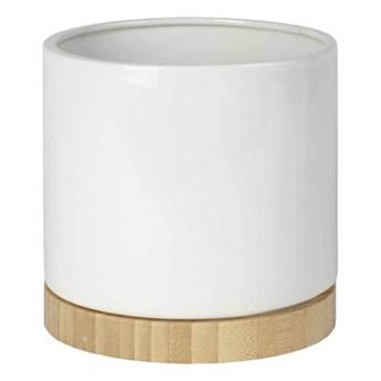 Osłonka doniczki Bamboo 16 cm biała