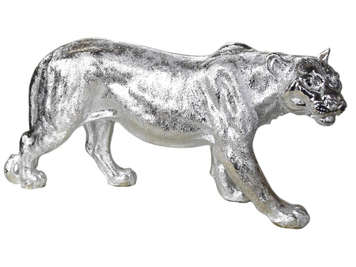 Srebrna figura lwicy 78 x 16 x 36 cm A453-S Kolor Srebrny Kategoria Figury i rzeźby