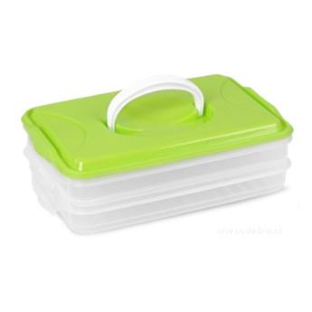 Duonosz, dwupiętrowy pojemnik na żywność zielony, 2 x 800 ml