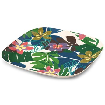 Talerz kwadratowy XL GoEco®, Bamboo NATURE 26 x 26 x 2,2 cm