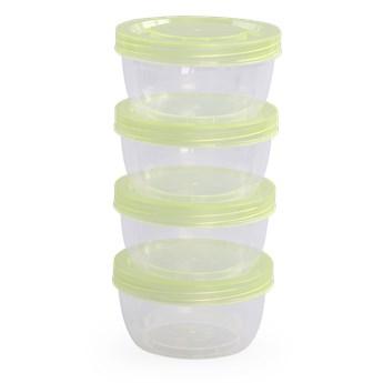 4 plastikowe pojemniki  180 ml