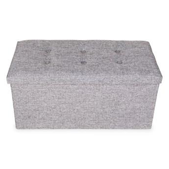 Składany puf, tkanina z wyścieloną pokrywą roz. XL