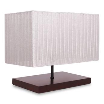 WOODER lampa z drewnianym stojakiem kremowa