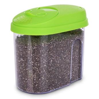 Pudełko na żywność, z kolorowym wiekiem zielone, 900 ml