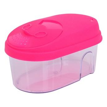 Pudełko na żywność, z kolorowym wiekiem różowe, 500 ml