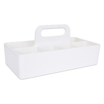 PRZENIEŚTO praktyczny organizer, do przenoszenia i przechowywania biały