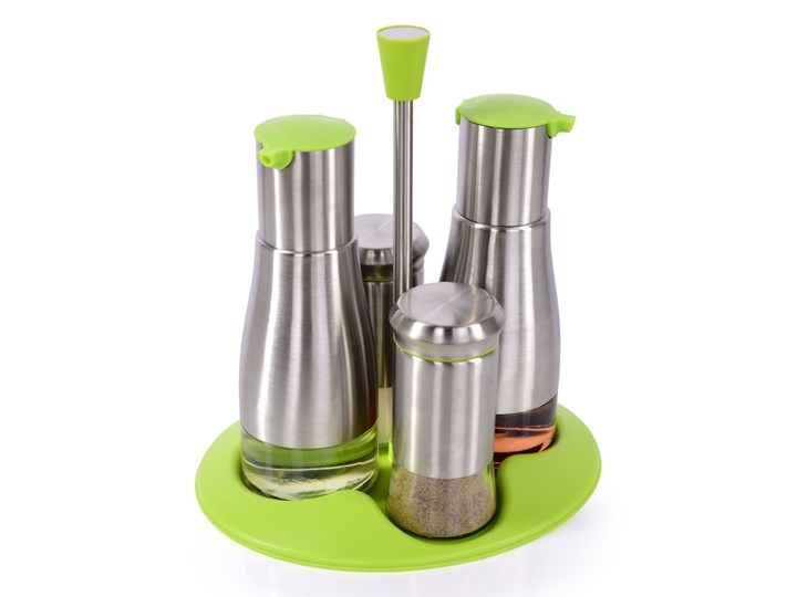 5-elementowy zestaw PEPPER&SALT, OIL&VINEGAR zielony