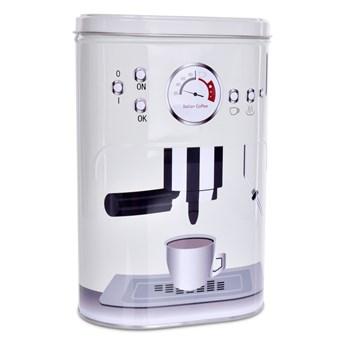 Metalowy owalny pojemnik z pokrywką PRESSO COFFEE 1100 ml