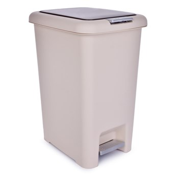 30 l kosz na śmieci PUSH&STEP beżowy