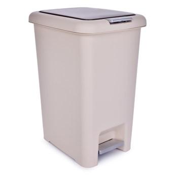 15 l kosz na śmieci PUSH&STEP  beżowy