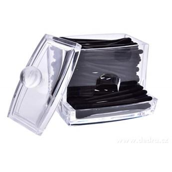 Pojemnik na patyczki kosmetyczne / uchoczyściki, z mocnego plastiku