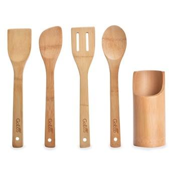 5 szt. ZESTAW bambusowych przyborów kuchennych GoEco®