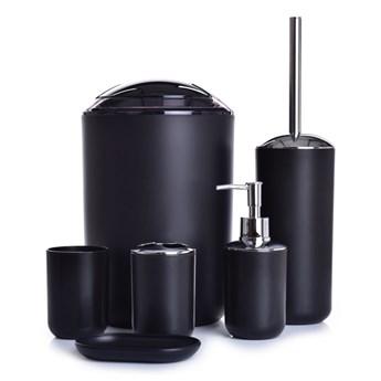 6-elementowy zestaw łazienkowy czarny