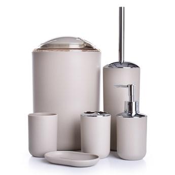 6-elementowy zestaw łazienkowy caffe latté