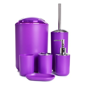 6-elementowy zestaw łazienkowy fioletowy