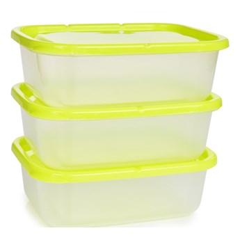 3 szt. pudełko na żywność GREENBOX 650 ml, z odpornego plastiku