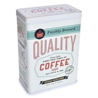 Metalowy pojemnik QUALITY COFFEE z pokrywką objętość 2400 ml