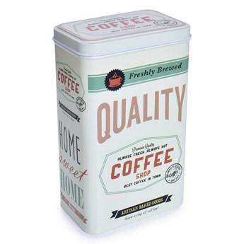 Metalowu pojemnik QUALITY COFFEE z pokrywką objętość 1400 ml