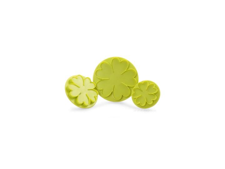 Duże kwiaty zestaw 3 szt. wykrawaczy do marcepanu i masy cukrowej Wykrawacze Kategoria Dekoracja wypieków Kolor Zielony