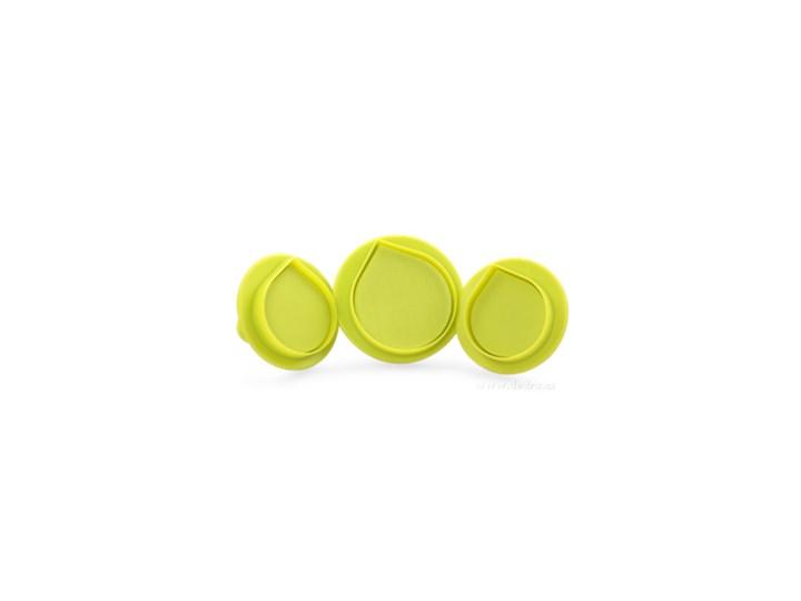Duże krople / listki zestaw 3 szt. wykrawaczy do marcepanu Wykrawacze Kategoria Dekoracja wypieków Kolor Zielony