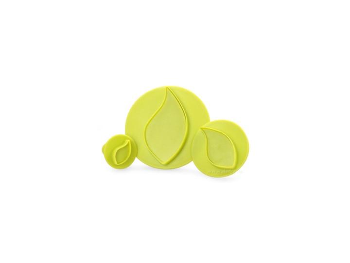 Duże liście zestaw 3 szt. wykrawaczy do marcepanu i masy cukrowej Wykrawacze Kategoria Dekoracja wypieków Kolor Zielony