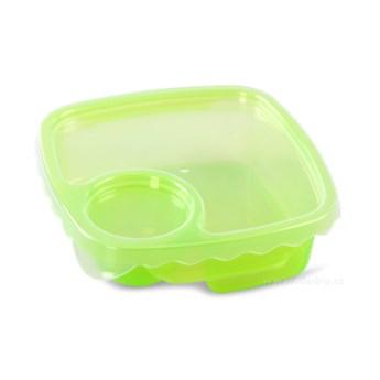 Duobox, pojemnik na żywność zielony, 500 ml + 100 ml