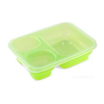 Triobox pojemnik na żywność zielony, 1000 + 250 + 250 ml