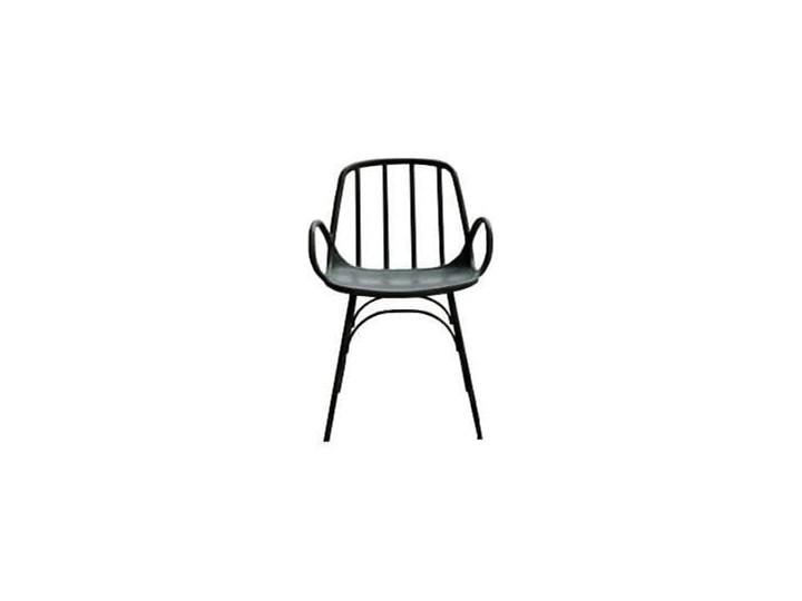 Krzesło CASTERIA czarne - polipropylen Metal Głębokość 56 cm Wysokość 82 cm Szerokość 55,5 cm Tworzywo sztuczne Pomieszczenie Jadalnia