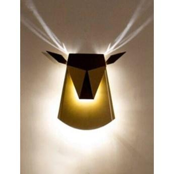 Kinkiet JELEŃ czarny - LED, stal węglowa