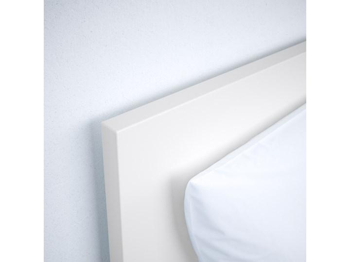 MALM Rama łóżka, wysoka Kolor Szary Łóżko drewniane Kolor Biały