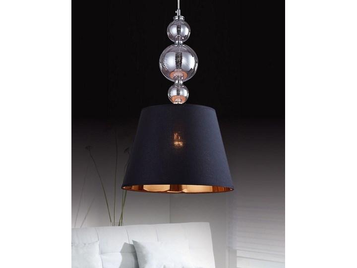 NOWOCZESNA LAMPA WISZĄCA CZARNA MURANEO Lampa z kloszem Styl Nowoczesny Lampa z abażurem Metal Tkanina Chrom Szkło Ilość źródeł światła 1 źródło