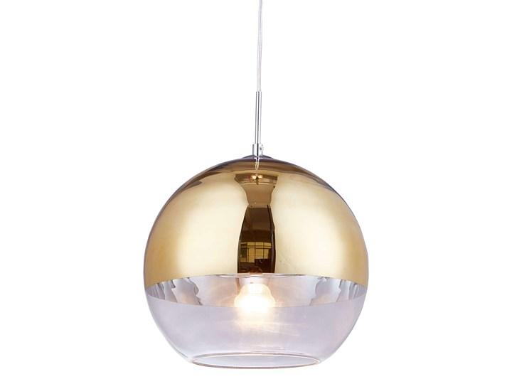NOWOCZESNA LAMPA WISZĄCA ZŁOTA VERONI D30 Szkło Metal Lampa kula Kolor Złoty