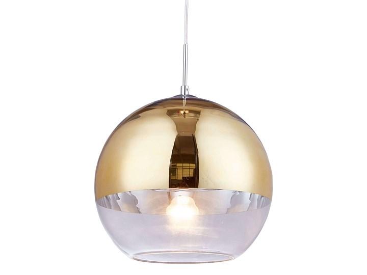 NOWOCZESNA LAMPA WISZĄCA ZŁOTA VERONI D20 Szkło Metal Lampa z kloszem Lampa z abażurem Styl Nowoczesny