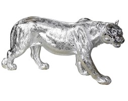 Srebrna figura lwicy 78 x 16 x 36 cm