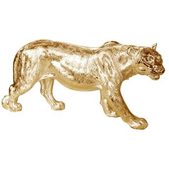 Złota figura lwicy 78 x 16 x 36 cm