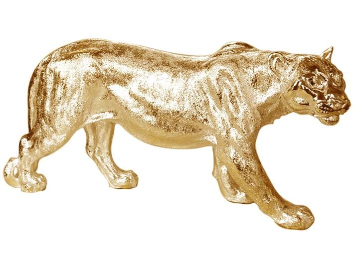 Złota figura lwicy 78 x 16 x 36 cm Żywica Zwierzęta Kolor Złoty