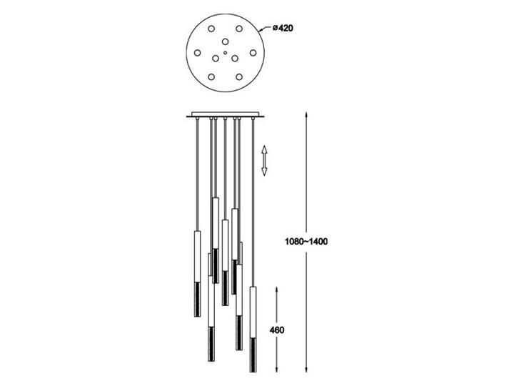 Lampa wisząca ONE P0461-09L-B5F7 Zuma Line P0461-09L-B5F7 Metal Lampa LED Kategoria Lampy wiszące