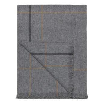 Pled wełniany Elvang Square light grey