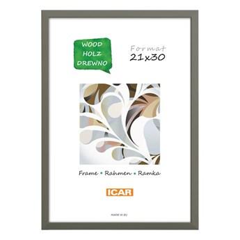 Ramka na zdjęcia Pinia 21 x 30 cm szara drewniana
