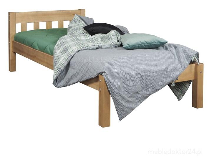 Łóżko Pino Sosnowe Łóżko drewniane Kolor Beżowy