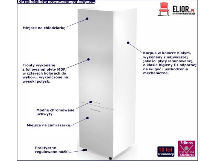 Kuchenna szafka do zabudowy lodówki Limo 14X - biały połysk Płyta MDF Kategoria Szafki kuchenne