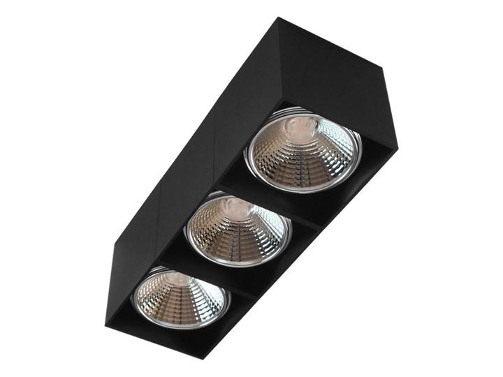 Potrójna ruchoma sufitowa oprawa natynkowa w kolorze czarnym AR ES111 Prostokątne Oprawa halogenowa Oprawa stropowa Oprawa ruchoma Kategoria Oprawy oświetleniowe