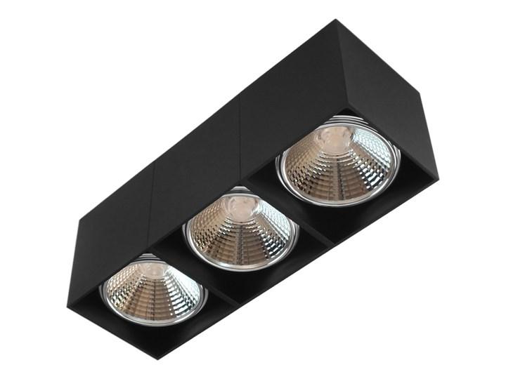 Potrójna ruchoma sufitowa oprawa natynkowa w kolorze czarnym AR ES111 Oprawa stropowa Prostokątne Oprawa halogenowa Oprawa ruchoma Kategoria Oprawy oświetleniowe