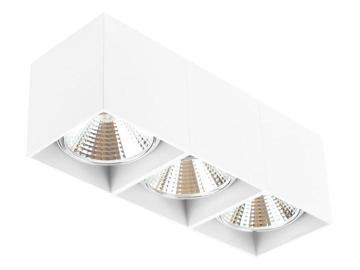 Potrójna ruchoma sufitowa oprawa natynkowa w kolorze białym AR ES111 Prostokątne Oprawa stropowa Oprawa ruchoma Oprawa halogenowa Kategoria Oprawy oświetleniowe