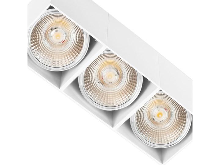 Potrójna ruchoma sufitowa oprawa natynkowa w kolorze białym AR ES111 Oprawa stropowa Oprawa halogenowa Oprawa ruchoma Prostokątne Kategoria Oprawy oświetleniowe