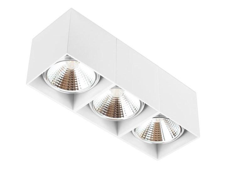 Potrójna ruchoma sufitowa oprawa natynkowa w kolorze białym AR ES111 Oprawa ruchoma Oprawa halogenowa Prostokątne Oprawa stropowa Kategoria Oprawy oświetleniowe